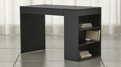 Treble Black Desk | Crate and Barrel also available in white.