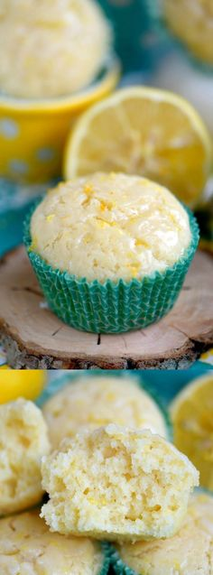 These Skinny Lemon Muffins from Mom On Timeout are made with Greek yogurt, coconut oil and plenty of lemon zest. They have a fabulous, bright, lemon flavor!