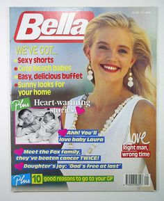VINTAGE BELLA MAGAZINE 20 JULY 1991 JOHNNY DEPP HILARY JONES JIM CARVER | eBay