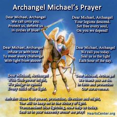 Free Archangel Michael Prayer Poster