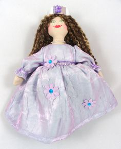 Princess Doll in Lavender Dress by JoellesDolls on Etsy