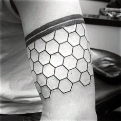 Hexagon Armband Honeycomb Tattoo Ideas For Guys