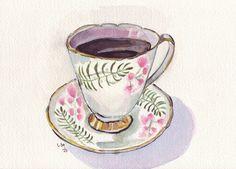 #tea #cup #illustration