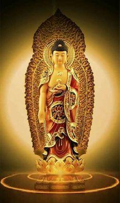 Amitabha Buddha, Gautama Buddha, Buddha Temple, Buddha Art, Peaceful Words, Birth And Death, Chinese Art, Statue, Pray