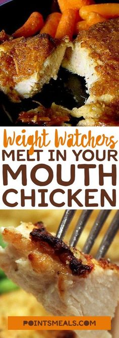 Weight Watcher's Melt In Your Mouth Chicken - One of food Yummy Recipes, Skinny Recipes, Dinner Recipes, Cooking Recipes, Yummy Food, Healthy Recipes, Keto Recipes, Healthy Food, Weight Watcher Dinners