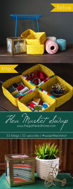 These thrift store supplies received an extreme makeover! #swapitlikeitshot