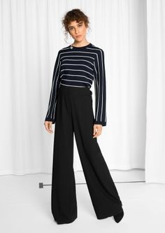 & Other Stories image 2 of Pinstripe Sweater in Navy