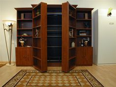 Surprise your weekend guests with this #bookshelf meets #bed combination. Our Madison Bookcase Murphy Bed is a comfortable solution to limited space.