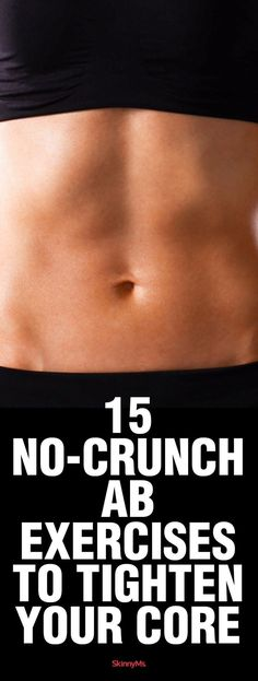 Try these 15 No-Crunch Ab Exercises to Tighten Your Core for all-around great-looking abs.Try these 15 No-Crunch Ab Exercises to Tighten Your Core for all-around great-looking abs. Fitness Workouts, Lower Ab Workouts, Easy Workouts, At Home Workouts, Fitness Tips, Health Fitness, Fitness Plan, Yoga Fitness, Fitness Women