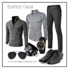 Business casual Men's by valeskatoro on Polyvore featuring TheLees, Doublju, James McCabe, Bally, Vegetarian Shoes, H&M, men's fashion and menswear