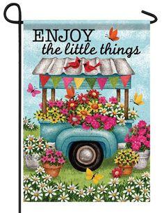 Flower Cart, Flower Truck, Flowers For Sale, Evergreen Flags, Yard Flags, Outdoor Flags, Flag Decor, House Flags, Custom Trucks