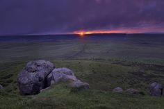 Sunset from Hadrian's wall. Those Romans had some sweet views. (FYI Sony a6000 sigma 19mm F8 ISO 100 - 3 bracket HDR edited in Capture One Pro) ///// #hadrianswall #hadrianscrawl #sonya6000 #captureone #sigma #hdr #sunset #thenorth #every3secondsadonkeycries #moody #clouds #rocks