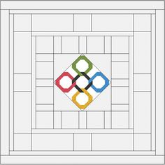 July 2016: Olympics Quilt BOM from On Point Quilter
