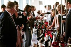 Wine & Spirits Magazine's 9th Annual Top 100 Event 2012 where we are in the thick of tasting.