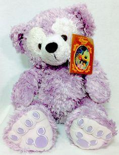 "New Rare Disney Pre Duffy Hidden Mickey Purple Lavender 17"" Plush Bear NWT VHTF"