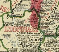 Carte gastronomique de la France, par A. Bourguignon, Paris, 1929<br>============================