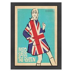 Mod Save the Queen Framed Graphic Art