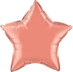 Coral Star Balloon 20 INCH Coral Star Coral Balloons by PartyHaus