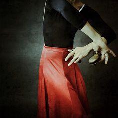 Glimpses of a flamenco dancer.