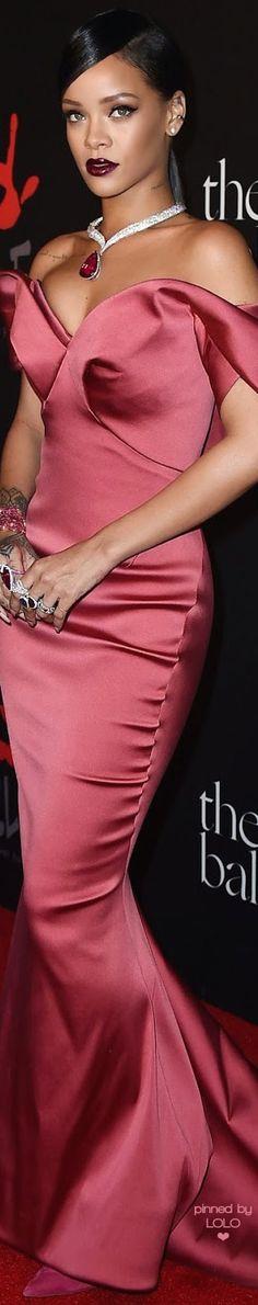 Rihanna in Zac Posen for Diamond Ball Benefit | LOLO❤
