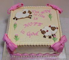 little lamb of God (shower cake)