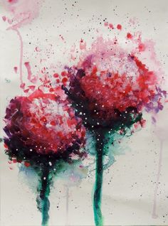 Suggestive Florals-Red Acrylic on Canvas. Lifebook 2014