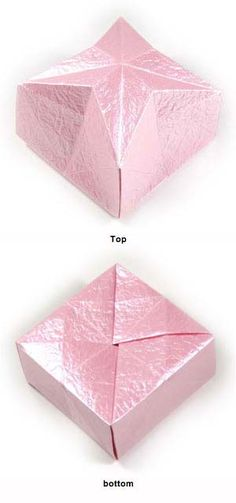 Instructions to learn how to make origami star boxes. Origami Frog, Origami Elephant, Origami Butterfly, Origami Star Box, Origami Envelope, Origami Heart, How To Make Origami, Useful Origami, Diy Origami