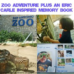 Zoo Adventure plus an Eric Carle inspired Memory Book. Kids activity, Summer bucket List