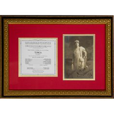 This Geraldine Farrar signed photograph, framed with a Met Opera program of Puccini's Tosca from November 18, 1921, is one of the opera collectibles at the Met Opera Shop. http://www.metoperashop.org/shop/geraldine-farrar-signed-photograph-and-met-opera-program-12250