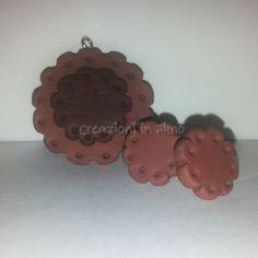 Ciondolo e orecchini biscottosi :) Lavorazione in Fimo