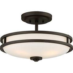 Quoizel GF1721PN, Griffin, Semi Flush 4 -Light Ceiling Fixture, Bronze