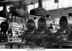 Steam locomotive engines standing idle at Saltley sheds near Birmingham, in October Live Steam Locomotive, Locomotive Engine, Birmingham, Steam Trains Uk, Engine Stand, Train Museum, Diesel, Steam Railway, Southern Railways