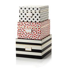 Genial Kate Spade New York Nesting Boxes   Black Stripe