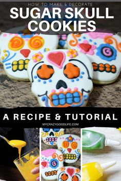 How to make Sugar Skull cookies: Wondering how to get those beautiful and intricate designs on Day of the Dead or Sugar Skull cookies? Here's a tutorial!