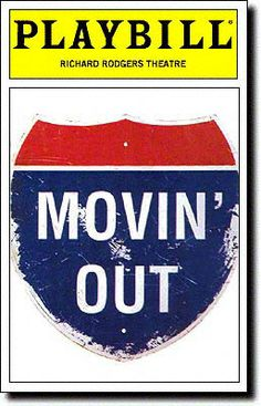 Movin' Out Playbill Covers on Broadway - Information, Cast, Crew, Synopsis and Photos - Playbill Vault