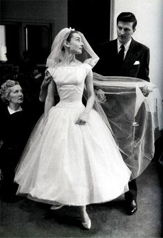 classic wedding dress, vintage.