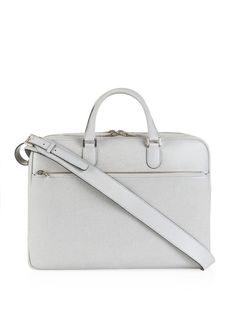 Valextra Grained leather briefcase