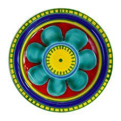 """Piatto Linea Mangiallegro. Questo prodotto è stato realizzato dagli ex dipendenti del maestro d'arte palermitano Giovanni De Simone oggi riuniti sotto un nuovo BRAND """"Ceramiche di Sicilia SRL"""""""