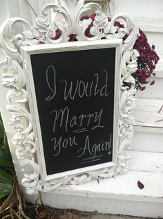 Shabby Chic Wedding Chalkboard - OuTSTAndINg lOOkinG - SHIPPing IS NOT included. $59.99, via Etsy.