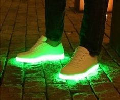 Why should kids get all the light-up shoes for themselves? These shoes put LEDs in the soles. Charge them via any mini-usb power source and they'll last 8-12 hours depending on the lighting mode. Push a button to change modes and to choose from 7 different colors.