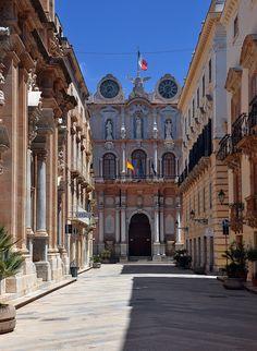Palazzo Senatorio in Trapani in Sicily, Italy #trapani