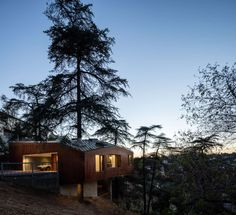 FIRM: Anonymous Architects; PROJECT: House in Trees; LOCATION: Los Angeles, California, USA. A home that despite its siting within a dense urban environment, offers a remote feeling due to the mature trees that engulf it and keep it somewhat isolated.