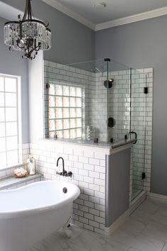 Bathrooms With Half Walls design