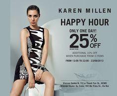 Khuyến mãi Karen Millen giảm giá giờ vàng chỉ một ngày duy nhất 22-6-2013