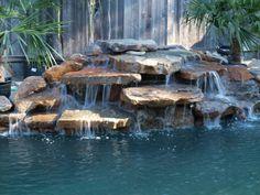 Mossrock waterfall at Ocean Blue Pools