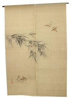 Seiryo Yamada NOREN Take to suzume (Banboo with sparrow) you can buy direct from Japan