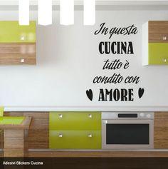Wall Stickers Adesivo Murale Frase Citazione Famiglia Amore e Vita ...