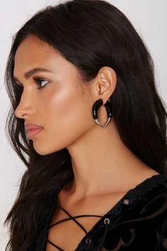 Lock Horns Tunnel Earrings - Earrings | Back In Stock