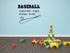Baseball Quote Baseball Wall Decal Boys Room Decal by SBLDesign