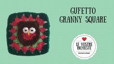 #Tutorial - Gufetto #Granny Square #video tutorial #owl crochet #owl granny square #mattonella #modulo #uncinetto #per filo e segno